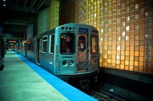 Chicago Transit Authority blue line train.