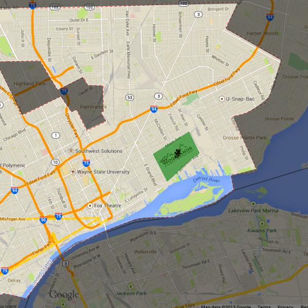 Hantz Woodlands location in Detroit