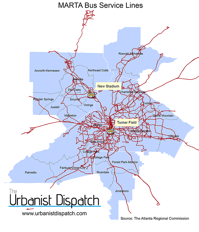 MARTA Bus lines